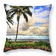 Hawaii Pardise Throw Pillow