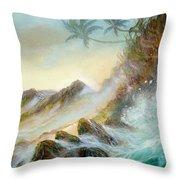 Hawaii Seascape Throw Pillow