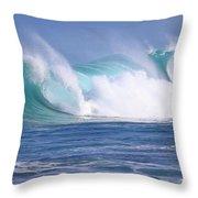 Hawaiian Winter Waves Throw Pillow