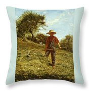 Haymaking Throw Pillow
