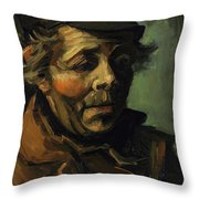 Head Of A Peasant With Cap Throw Pillow
