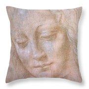 Head Of A Woman  Throw Pillow