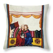 Heidelberg Lieder, 14th C Throw Pillow