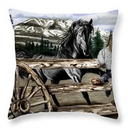 Hello Girl Throw Pillow