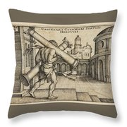 Hercules Carrying The Columns Of Gaza Throw Pillow
