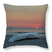 Here Comes The Sun - Ocean City New Jersey Throw Pillow