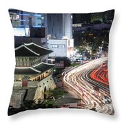 Heunginjimun Gate In Seoul Throw Pillow