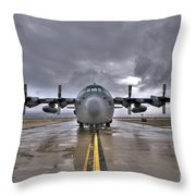 High Dynamic Range Image Of A U.s. Air Throw Pillow by Terry Moore