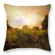 Hilltop Meadow Throw Pillow