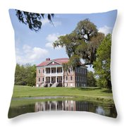 Historic Drayton Hall In Charleston South Carolina Throw Pillow
