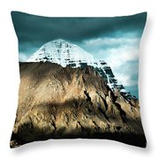 Holy Kailas East Slop Himalayas Tibet Yantra.lv Throw Pillow
