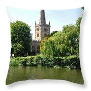 Holy Trinity Church At Stratford-upon-avon Throw Pillow