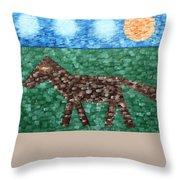 Horse Throw Pillow by Patrick J Murphy