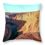 Horseshoe Bend Colorado River Arizona Usa Throw Pillow