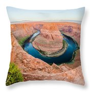 Horseshoe Bend Near Page Arizona Throw Pillow