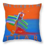 Hot Boat Throw Pillow