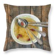 Hot Soup Throw Pillow