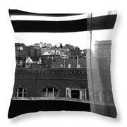 Hotel Window Butte Montana 1979 Throw Pillow
