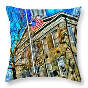 Howard County Courthouse Throw Pillow