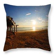 Huequito Beach Throw Pillow