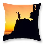 Hula Silhouette Throw Pillow