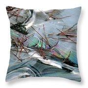 2. Ice Prismatics 1, Slaley Sand Quarry Throw Pillow