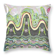 Ilwolobongdo Abstract Landscape Painting2 Throw Pillow