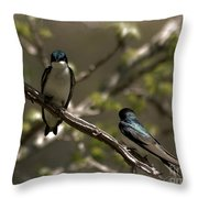 2 In A Tree Throw Pillow