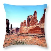 In Monument Valley, Arizona Throw Pillow