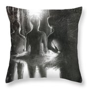 In The Wings Throw Pillow