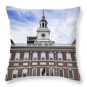 Independence Hall Philadelphia Throw Pillow