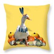 Indian Duck Throw Pillow