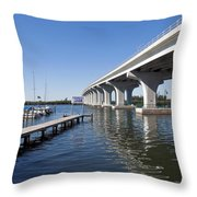 Indian River Lagoon At Vero Beach In Florida Throw Pillow