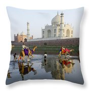 India's Taj Mahal Throw Pillow