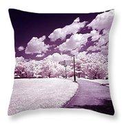 Infrared Garden Throw Pillow