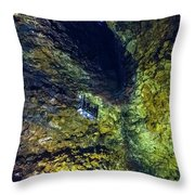 Inside The Volcano Thrihnukagigur - Iceland Throw Pillow