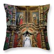 Interior Statue - San Xavier Mission - Tucson Arizona Throw Pillow