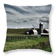 Iowa Farmstead Throw Pillow