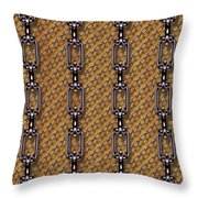Iron Chains With Wood Seamless Texture Throw Pillow