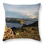Isla De Sol Bolivia Throw Pillow