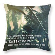 Island Greeting Quote Throw Pillow