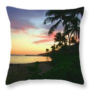 Island Sunset Throw Pillow
