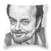 Jack Nickolson  Throw Pillow