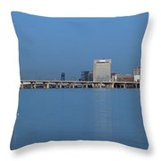 Jacksonville Skyline Panorama Throw Pillow
