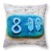 Jaffa, Pisces Zodiac Street Sign  Throw Pillow