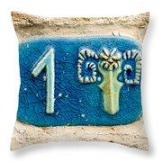 Jaffa, Zodiac Street Sign  Throw Pillow