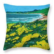 Jalama Beach Throw Pillow