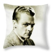 James Cagney, Vintage Actor Throw Pillow