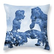Jane And Tarzan-blue Throw Pillow