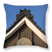 Japanese Rooftop Throw Pillow